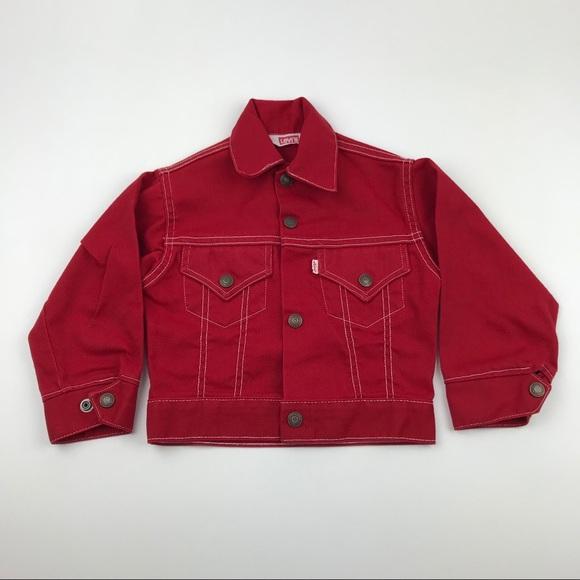 Levi's Other - Vintage LEVI STRAUSS Red Trucker Jacket Size 5